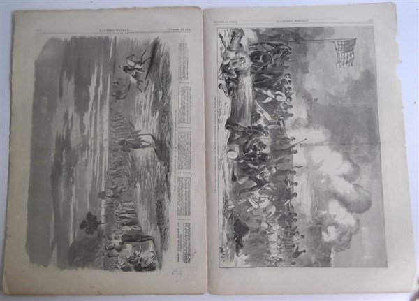 5 1860's Civil War Harper's Weekly - 2