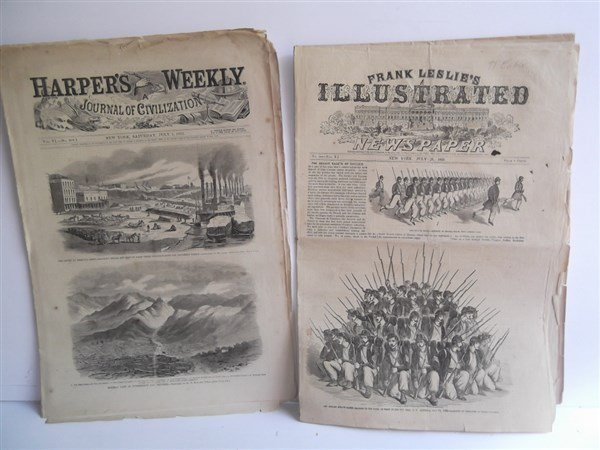 5 1860's Civil War Harper's Weekly - 8