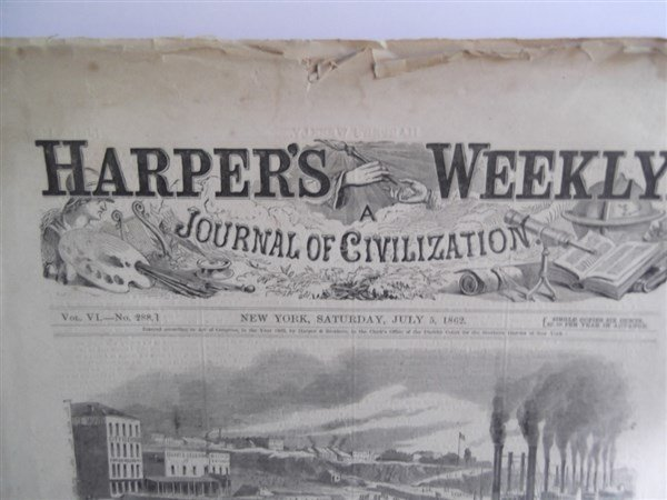 5 1860's Civil War Harper's Weekly - 9