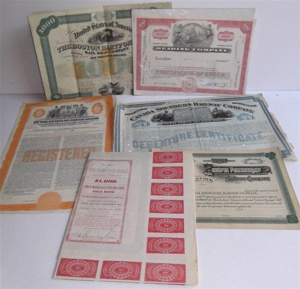6 Railroad bonds