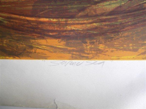 3 large sailboat at sea lithographs signed - 2