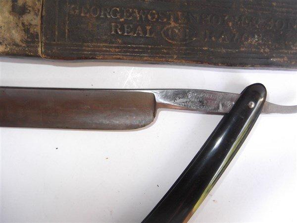 7 straight razors & 1 sharpener - 6