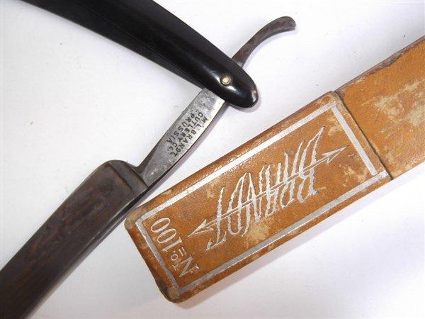 7 straight razors & 1 sharpener - 8