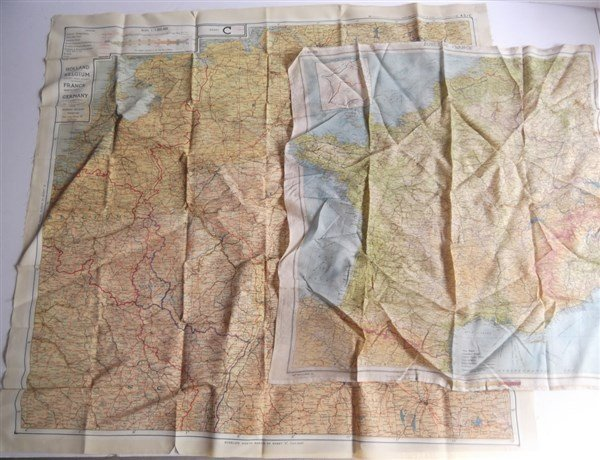2 maps on silk