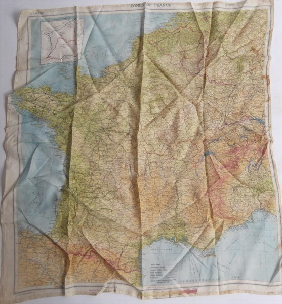 2 maps on silk - 3