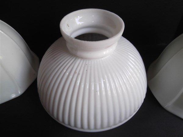 6 vintage milk glass lamp shades - 4