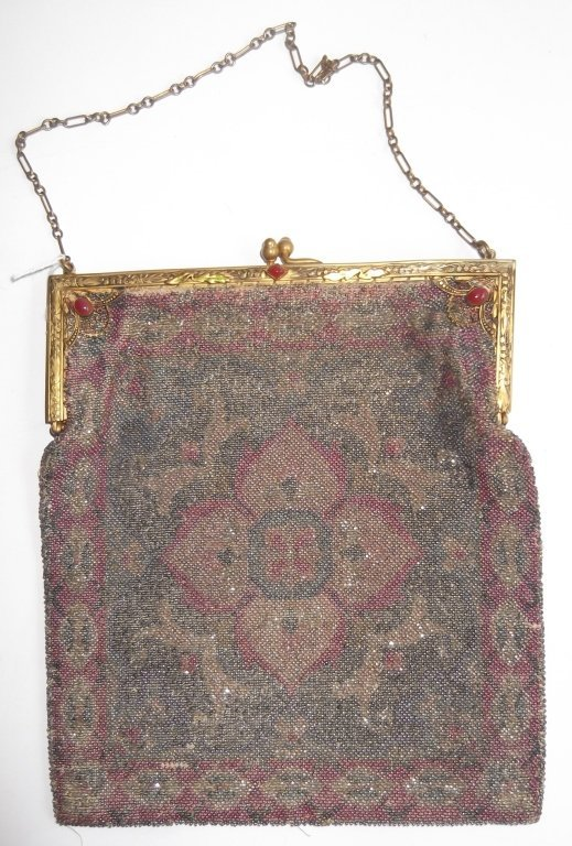 19th c. beaded purse