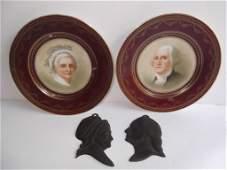 4 piece George  Martha Washington lot