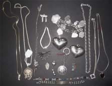 19 piece sterling jewelry lot