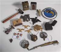 Collection of assorted military items