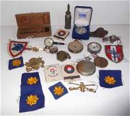 Assorted collection of military items