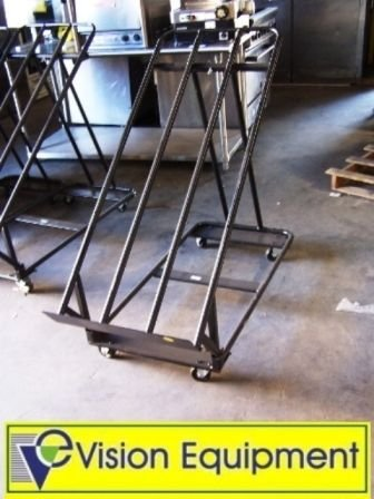 1: Used commercial black produce display rack