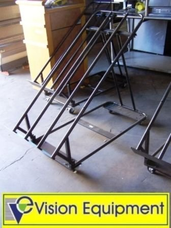 2: Used commercial black produce stand