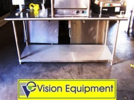 7: Used commercial stainless steel table