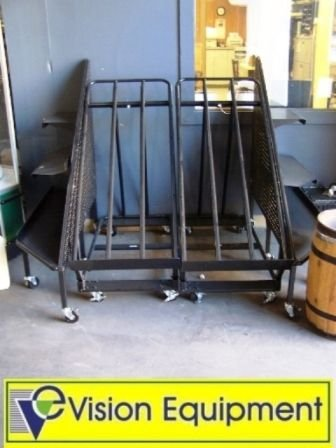 16: Used commercial black produce display rack