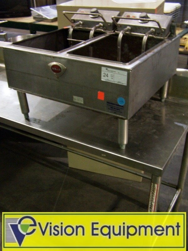 Used Commercial countertop dual fryer