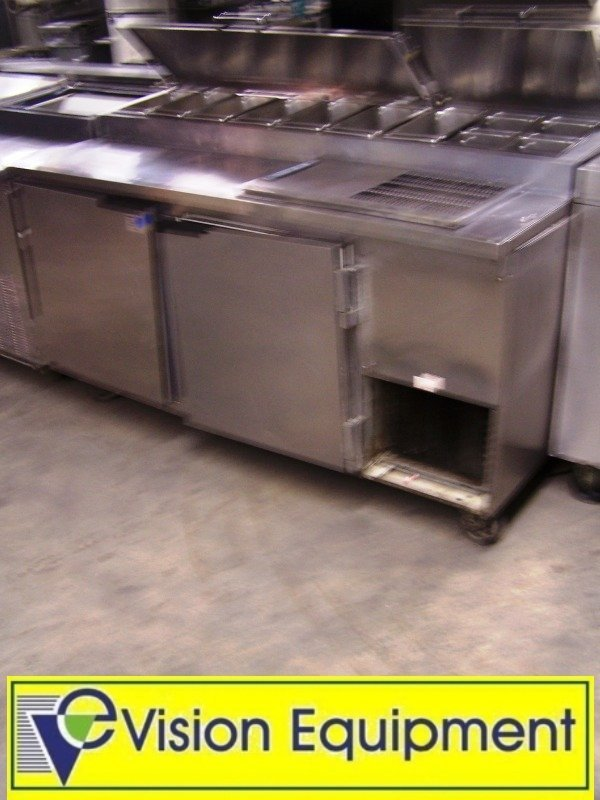Used Commercial Beverage Air sandwich pizza prep table