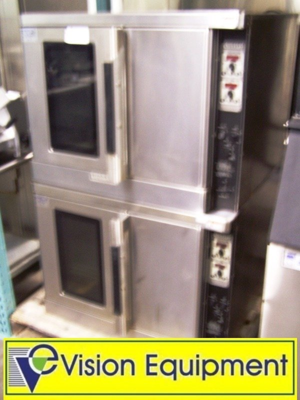 2137: Used Commercial double stacked Hobart convection