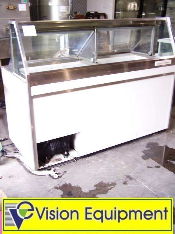 used commercial 12' Flavor Ice Cream Dipping Cabinet