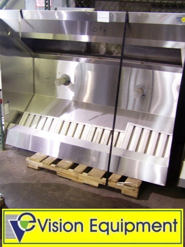 used commercial Captive Air 5424ND 6' exhaust hood