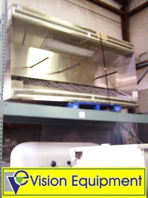 used commercial 9' lighted exhaust hood