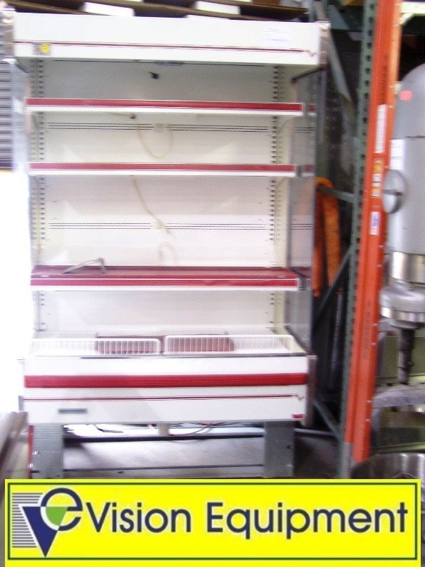 used commercial Hussmann remote open air display cooler