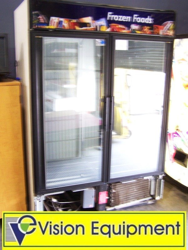 used commercial model GDM-49G 2-glass dr freezer
