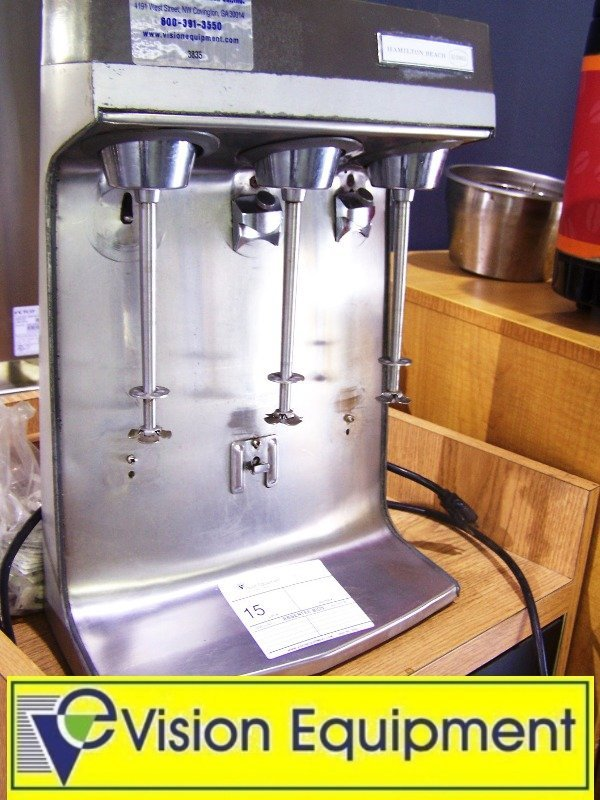 used commercial Hamilton Beach 3-spindle ice cream mixe