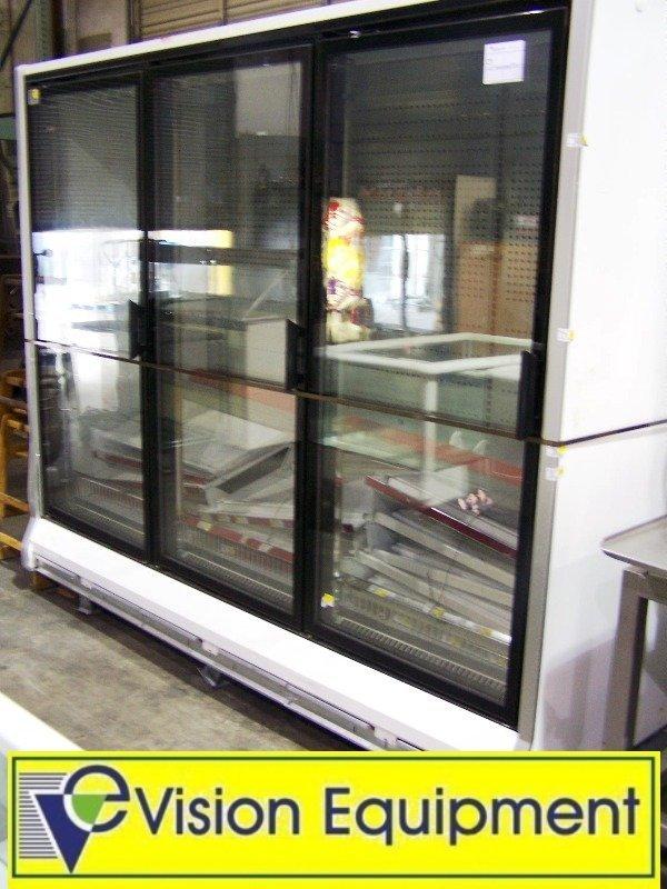 used commercial Hussmann merchandising 3-door Freezer
