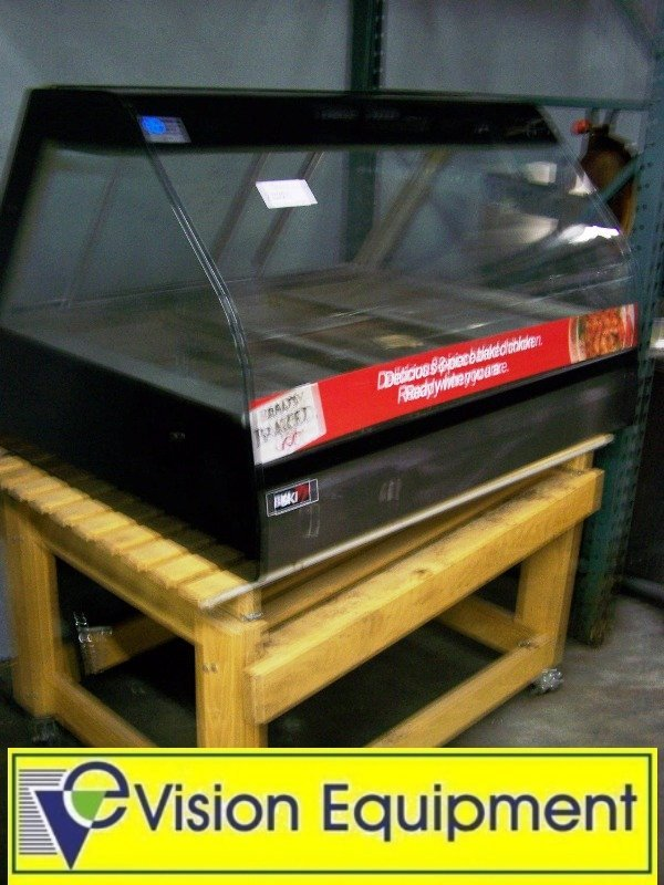 2228: Used BKI Counter Top Hot Deli Euro Curved Glass