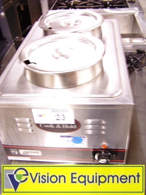 1023: Used Commercial Wyott Double Soup/Food  Warmer
