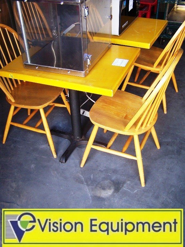 3: 2 Wooden dining Tables and 4 wood Chairs/ Seating