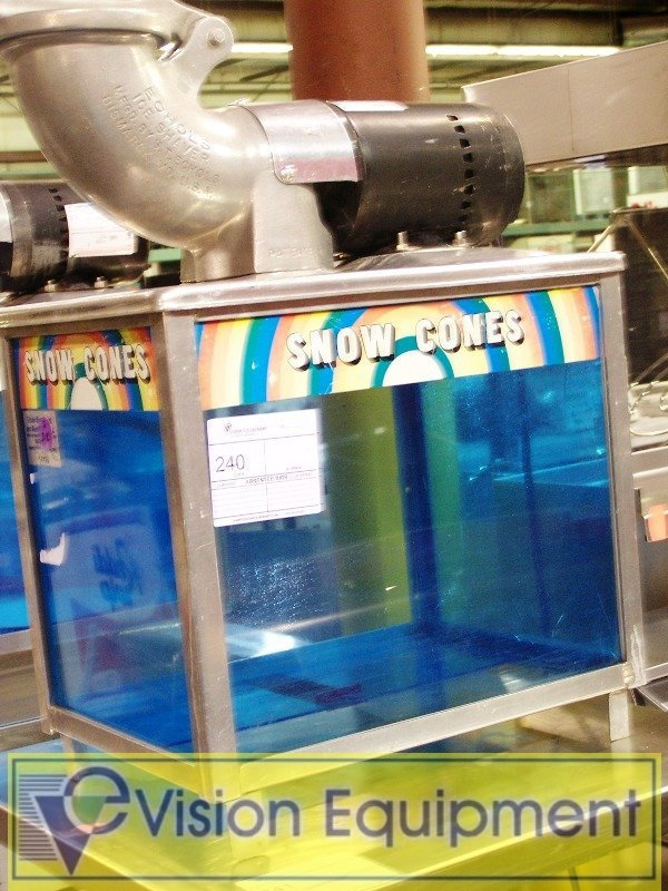 240: Used Commercial Snow Cone Shaved Ice Machine