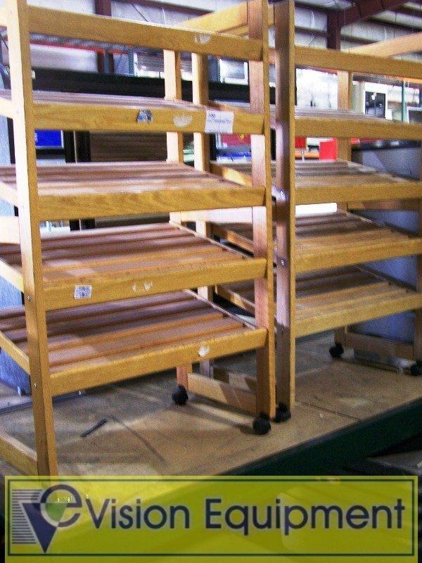 386: 2 Each Wooden Bread display Racks