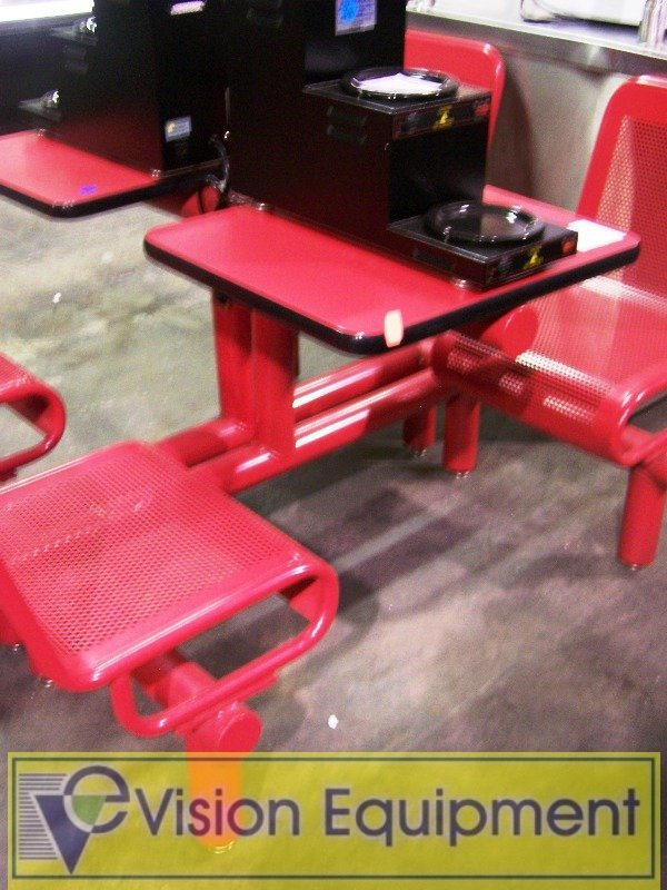 696: (2) 2 Seat Wire Seat Booths Epoxy Coated