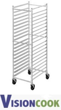 712: New Royal Aluminum Pan Rack on Casters, 18 Pan Cap