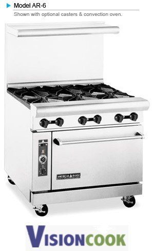 "911: New 36""W Heavy Duty Restaurant Range w/ 6 Burners"