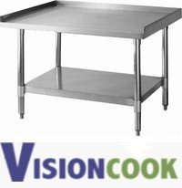 "919: New Galvanized Restaurant Equipment Stand 24""x 36"""