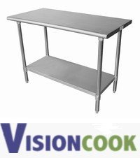 "924: New Stainless Steel  30"" X 48"" Work  Prep Table"