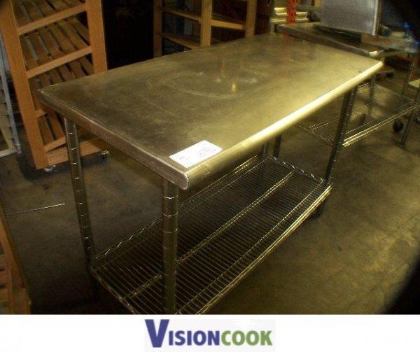 707: Used Stainless Steel Prep Work Table