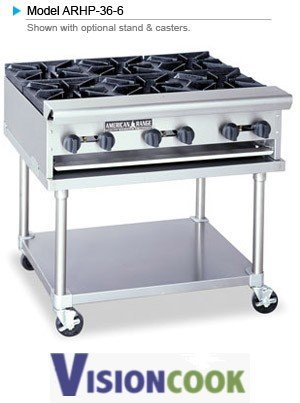 "923: New 36"" American Range Heavy Duty Hot Plate GAS"