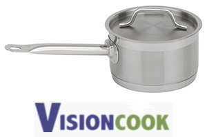 1220: New Royal Stainless Steel Sauce Pot w/ Lid 6 Qt.