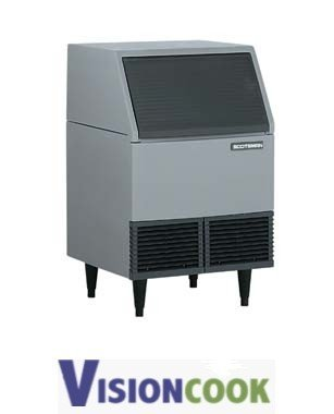 1222: 400lb. Undercounter Ice Machine Flaker with Bin