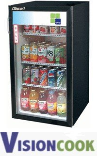 1224: New Countertop Glass Door Refrigerator Cooler