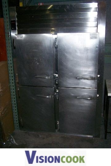 1245: Traulsen 2 dr Used Commercial Cooler refrigerator