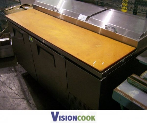 323: True Used Commercial Pizza Prep Rail Cooler Table