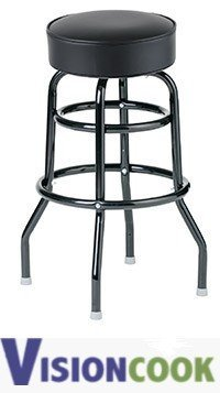 724: New Royal Double Ring Black Seat Bar Stool