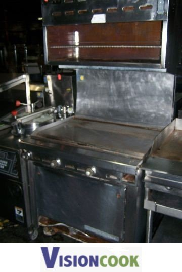 1434: Used Flat Grill Griddle salamander cheese Melter