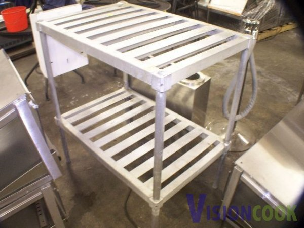 15: Aluminum Storage rack 4 dry or cold food