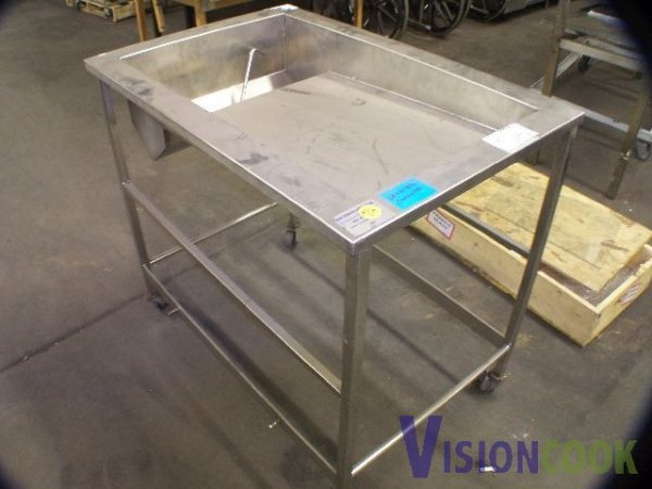 24: Used Bakery Donut glazing chicken breading table